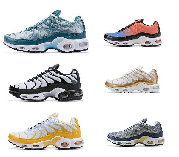 2019 Nuevas zapatillas de deporte de diseño de alta calidad TN Plus SE Pack Zapatillas para hombre Zapatillas deportivas Zapatillas deportivas Moda Negro Blanco Zapatillas deportivas