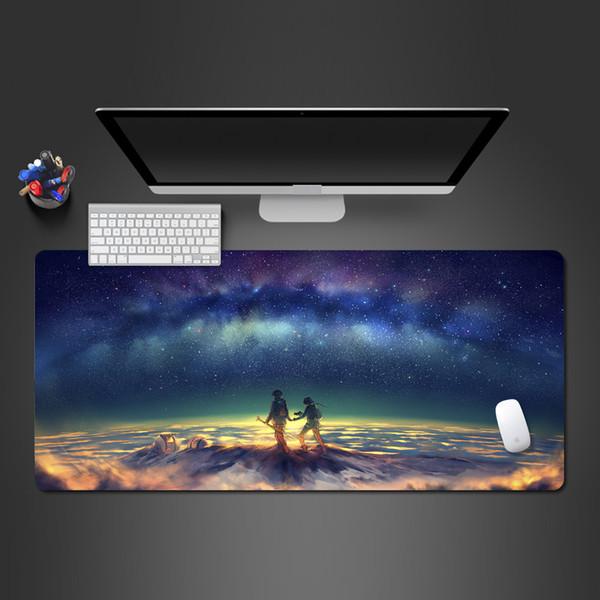 Великолепная Late Night Starry Game Mouse Pad персонализированный Creative 3D Прохладный натуральному каучуку бестселлера Pad клавиатуры Офисный компьютер