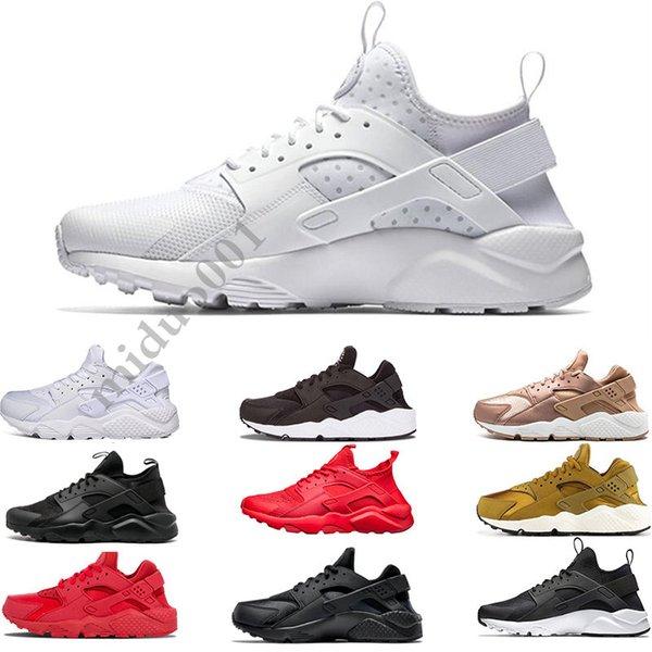 Compre Huarache 1.0 4.0 Clásicas Para Hombre Rojos Triple Blanco Negro Para Mujer Zapatos Huarache Huaraches Zapatillas De Deporte De Los Zapatos
