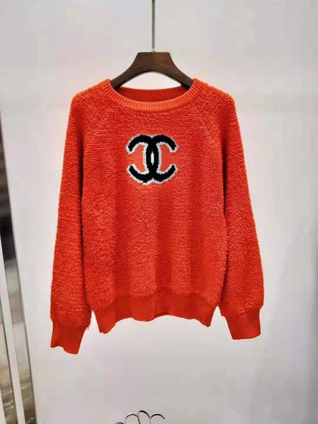 19 otoño e invierno señoras suéter de cachemira nueva moda carta jacquard cuello redondo suéter de manga larga femenina de gama alta venta caliente 716