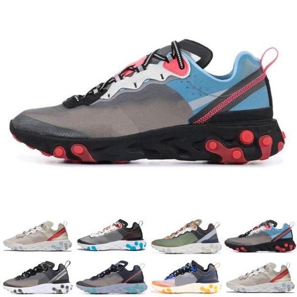 d46cf48f65cc Epic React Element 87 Undercover Men Running Shoes Sail Light Bone Blue  Chill Solar Anthracite Black