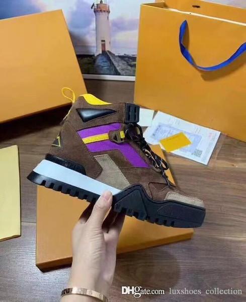 Son Erkekler Yürüyüş Ayak Bileği Sneakers ile Buzağı Deri Taban, Erkek Botları Eğitmenler Boy Sneaker Kutu Boyutu 38-45 ile Gel ...