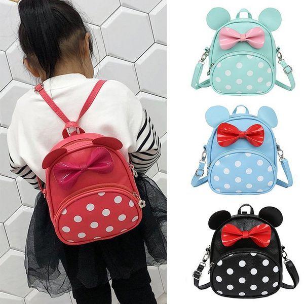 Kinder 3D Bogen Schultaschen Baby Mochilas Kinder Schultasche für Kindergarten Jungen und Mädchen Rucksack Kind PU Rucksack
