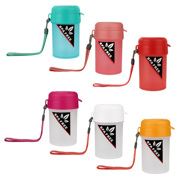 Portable Sports Water Bottle Plastic Water Cup Creative Kettle Drink Travel Cup #30