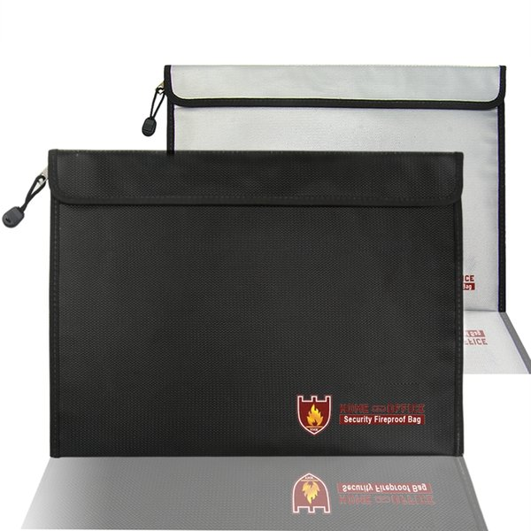 Fireproof Fire Resistant Document Bag Envelope Pouch For Passport Money Files Bags Briefcases