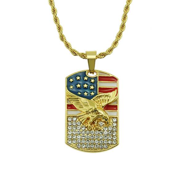 la vente du commerce extérieur collier européens et américains de la personnalité de la mode pendentif aigle 2019 nouvelle usine de bijoux vente directe