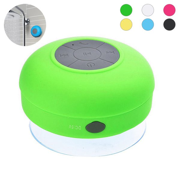 Wireless Waterproof Mini Bluetooth Speaker with wall Suction Cup and Built-in Microphone Handsfree used outdoor Showers or bathroom pool