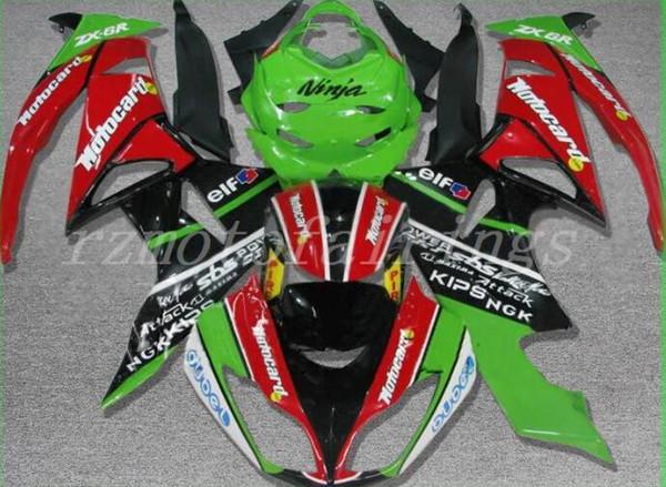 High quality New ABS fairings fit for kawasaki Ninja ZX6R 636 2009 2010 2011 2012 6R 09 10 11 12 ZX-6R 600CC fairing kits nice red green