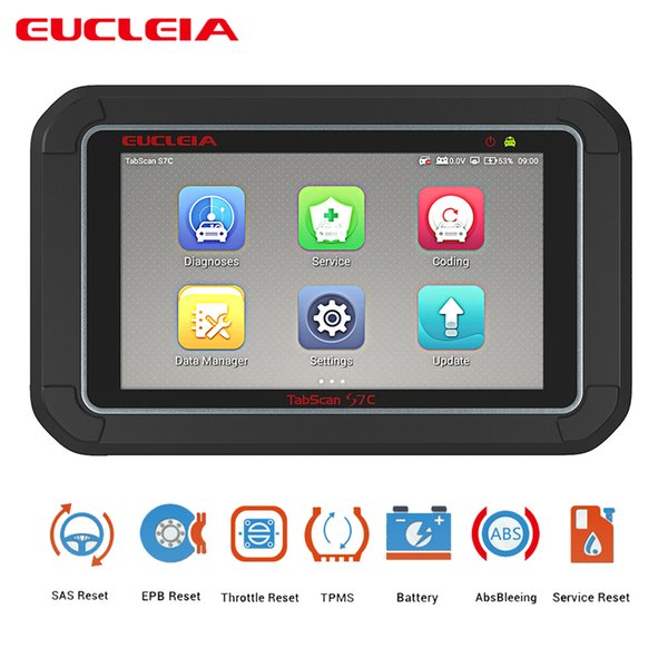 Multifunction Auto Automotive Scanner OBD2 Car Diagnosis ABS Bleeding EPB Throttle Reset SAS Reset EUCLEIA S7 S7C 7 touch Screen