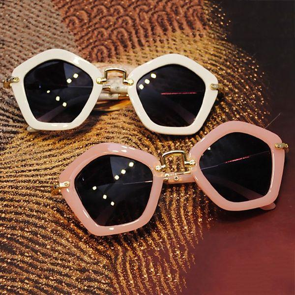 Kindersonnenbrillen Trendy Kindersonnenbrillen Diamond-Shaped Multilateral Anti-UV Mädchenbrille Shades Baby Gafas De Sol UV400