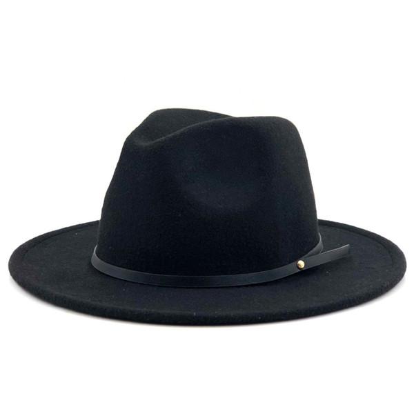Women Men Wool Vintage Gangster Trilby Felt Fedora Hat With Wide Brim Gentleman Elegant Lady Winter Autumn Jazz Caps D19011103