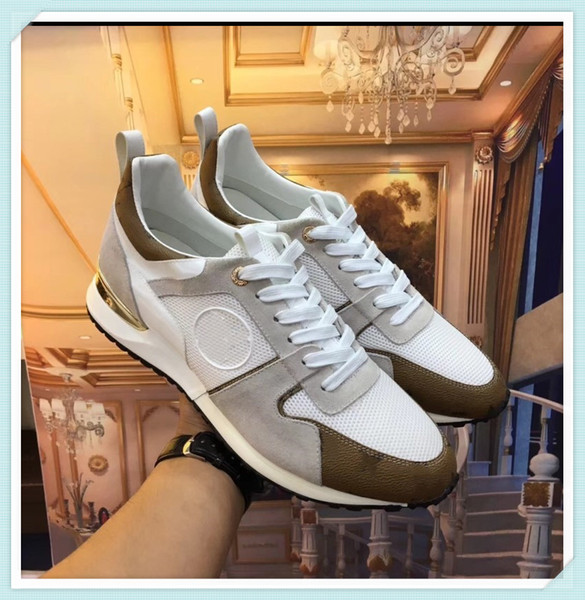 2019 New shipping High quality men and women luxury shoes sneakers Genuine leather sneaker flats with high causal Handmade Shoes 35-45 992