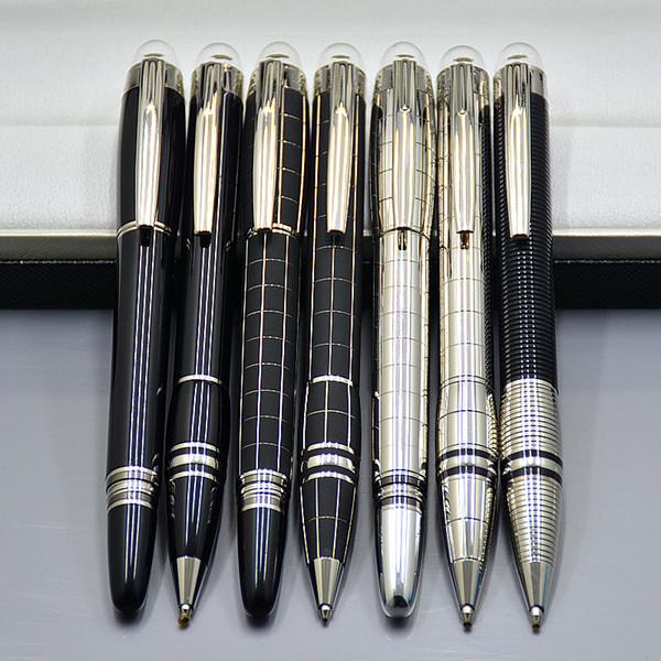 Preço de atacado Promoção-Alta qualidade Star-waiker Preto Resina Rollerball caneta Caneta esferográfica Fountain Canetas de Luxo MB material de escritório Escolar