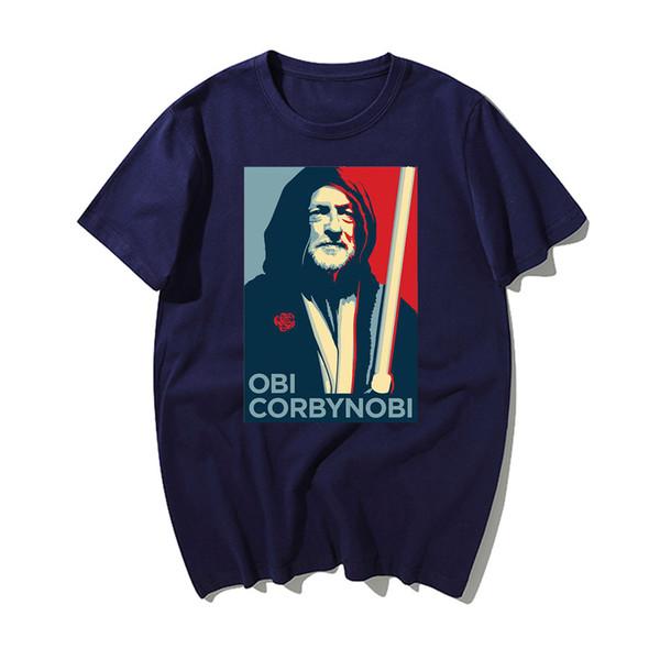 Neueste Gedrucktes T-Shirt Lustige Corbyn Männer Sommer-Baumwolle Kurzarm Top Tees Art und Weise beiläufige Männer Kleidung 2019