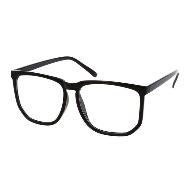 Moda de Grandes Dimensões Retro Plástico Shell Unisex Nerd Geek Lente Clara Óculos Simples 1 PCS