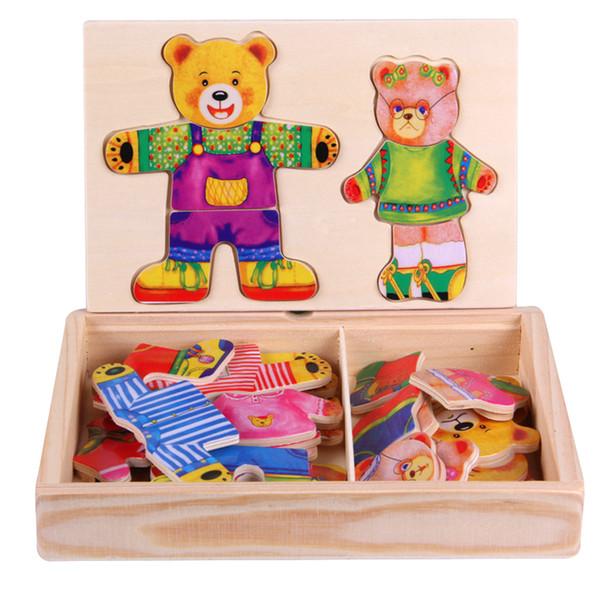 Model Tuğla Montessori İlgi Alanları Entelektüel Oyuncaklar Çocuk Eğitim 2 Ayı Konfeksiyon Eğitmek için Yetenek Çocuk Oyuncakları Bulmaca