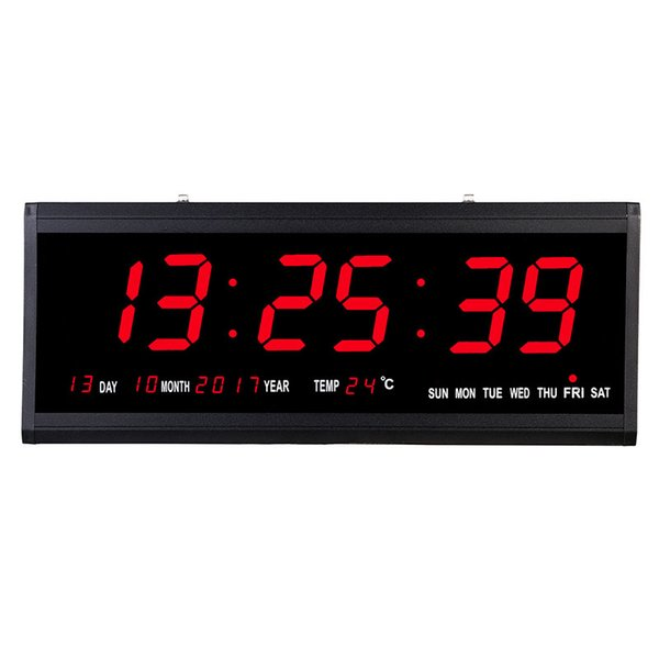 2019 Super Big Electronic Wall Clock Digital Desk Table LED Wall Clock  Modern Design Horloge Murale Kitchen Watch Home Decor From Raymonu, $62.07  | ...