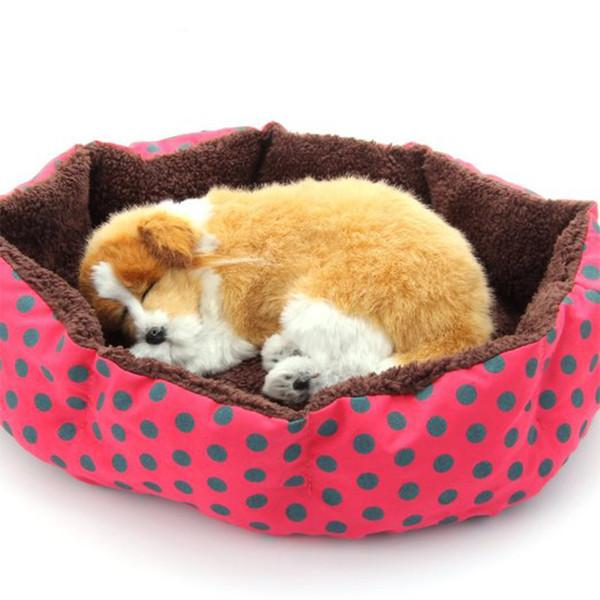 Kış Sıcak Pet Mat Köpek Yavrusu Evi Kediler için Uyku Tulumu Mağarası Güzel Yumuşak Evcil için Uygun Kedi Köpek Yatak Ev Yastık
