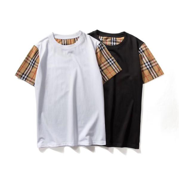Hot Classic fashion Brand men's T-shirts BT-11 Luxury designer Summer short sleeve plaid tees Medusa Shark PP D2 B Letter England Women Tops