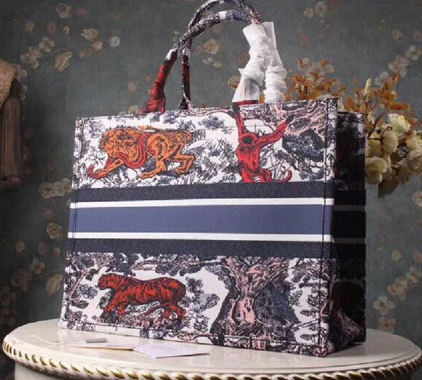 Sıcak Satmak Lüks Kadın Çanta Tasarımcısı Nakış Tote Alışveriş Çantası Yüksek Kaliteli Ünlü Tasarımcı Büyük Handbag673c #