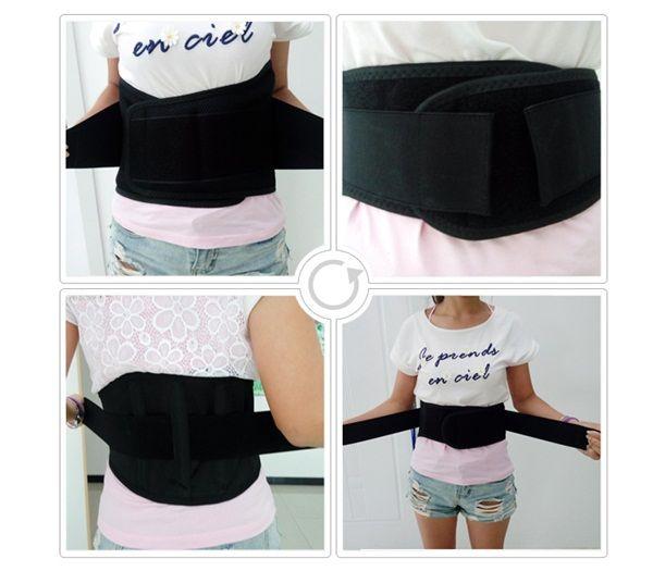 2016 High quality Adjustable waist belt For lower pain relief Back waist support lumbar brace Belt double pull strap