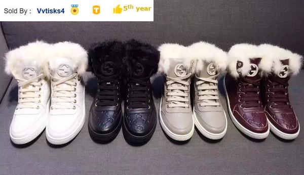 Liujingang6 6325 gedruckt Kaninchenpelz hohe Stiefel Reit Regen Boot Stiefel BOOTIES SNEAKERS-Kleid-Schuhe