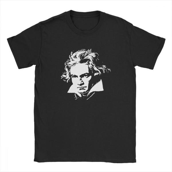 Hommes Beethoven Compositeur T-shirts orchestre classique Hauts O Cou court Vêtements manches 100% T-shirts de coton taille plus T-shirt