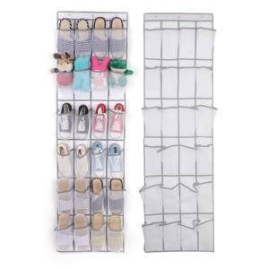 24 Grid Non-woven Shoe Bag Door Rack Shoe Storage Sundries Hanging Organizer Foldable Storage Bags 48*168cm SSA202