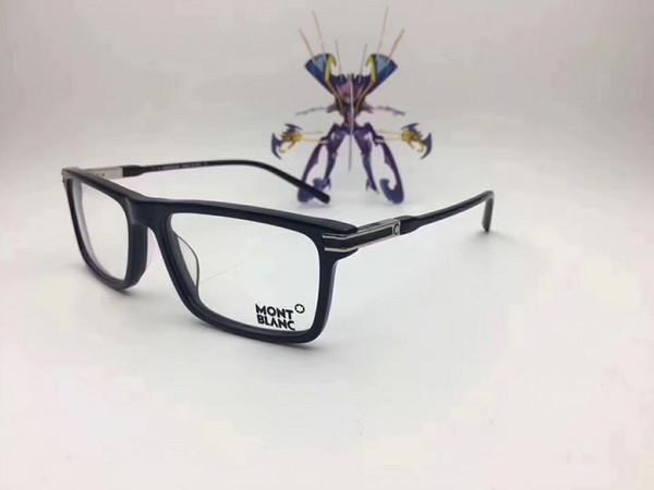 Lüks-İtalyan Marka Tasarımcısı Tasarlanmış Gözlük Çerçeve Gözlük Çerçeve Erkek Eşleştirme Bitmiş Düz Işık Miyop Gözlük Çerçeve