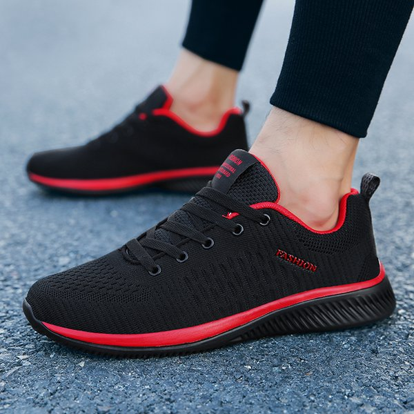 Mens Running Shoes Breathable Mesh Sneakers Lightweight Soft Sport Shoes Non-slip Walking Jogging Flats Athletic Shoes Trainers