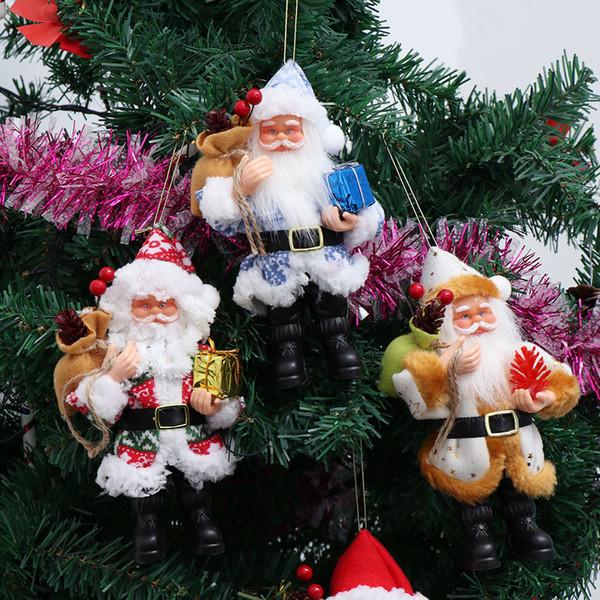 Ornamento colgante del árbol de navidad regalo del partido del hogar de la decoración de bricolaje mesa de cumpleaños Decoración de resina de Navidad de Santa Claus decoración de la Navidad