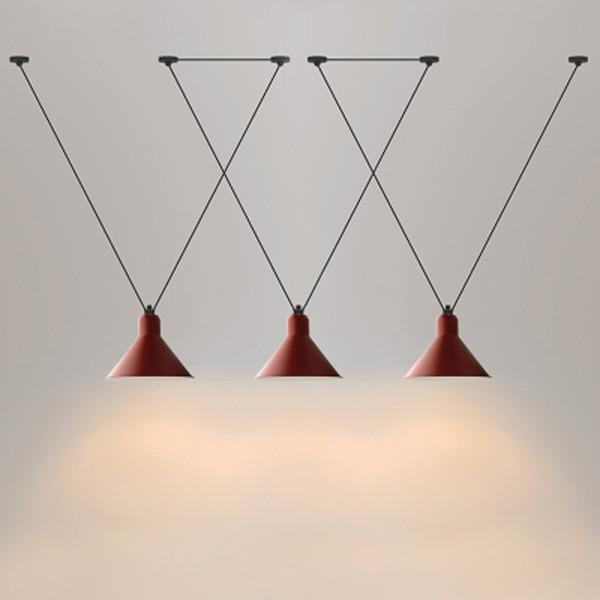 Jess Loft vintage pendant lights Iron Pulley Lamp Bar Kitchen Home Decoration E27 Edison Light Fixtures Free Shipping110v ``260v