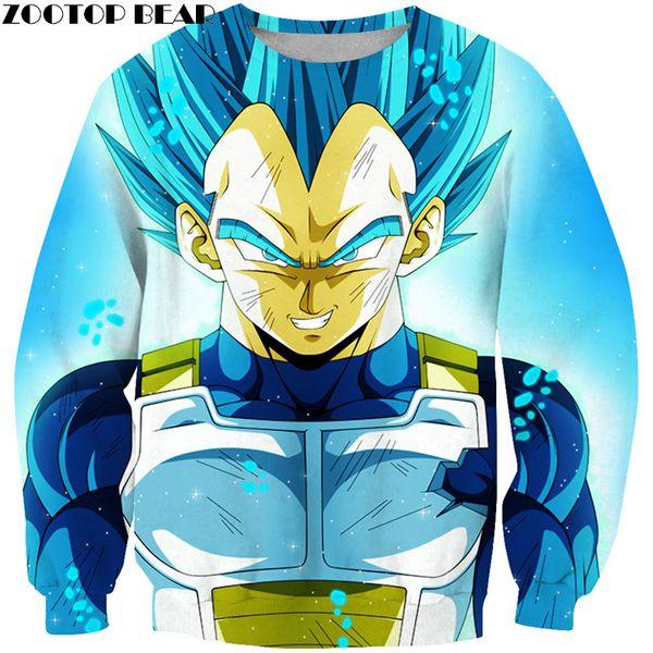 Blue Shine 3D hombres de impresión de manga larga sudaderas masculinas camisas ocasionales de cuello redondo Streetwear DropShip