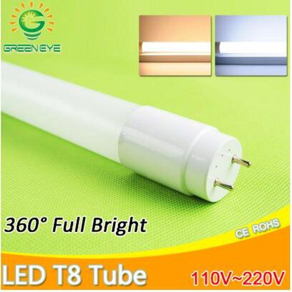 Tubo LED T8 10 w 60 cm AC110v 220 v LED Tubo de Luz Fluorescente LEVOU Lâmpada tampa leitosa Quente FrioBranco vermelho azul rosa SMD2835 Bulbo néon
