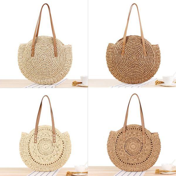 Bolso tejido Estilo clásico para mujeres Bolsas de almacenamiento Bolsa de compras de viaje de fibra de poliéster de alta capacidad Moda
