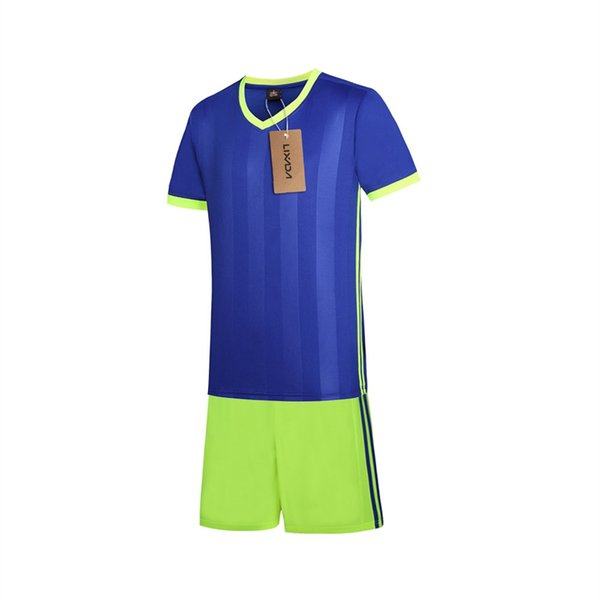 Lixada Fußball Hemd Uniformen Set Fußball Trikots Kurzarm Sportbekleidung Atmungsaktiv Ball Jersey Fußball Sweat T-Shirt # 716009
