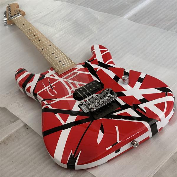 Gratuit ShippingHigh Qualité guitare électrique, Eddie Van Halen meilleure qualité Guitares, relique ans st, hardwares de qualité mis à jour, livré rapidement
