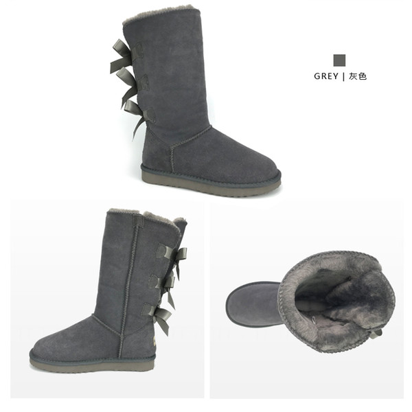 Snow Boots Designer Brand Shoes For Women Genuine Leather Booties Plus Size Snow boots with Box Packaging