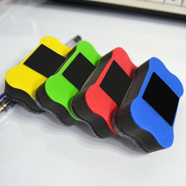 top popular 4 pieces Magnet Blackboard Eraser Cleaner Rubber Magnetic Dry Erase Board of School Office Accessories 2021
