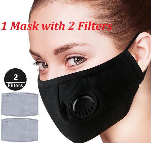 1 máscara preta + 2 Filters