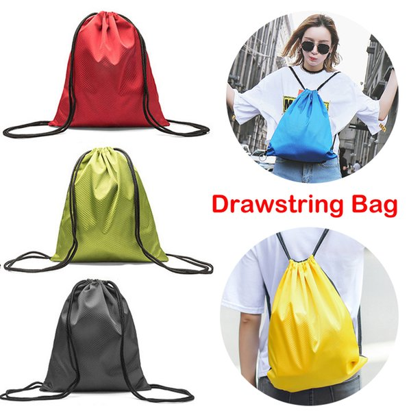 Drawstring Backpack Bags 20L Large Capacity Thicken Oxford Cloth Waterproof Storage Bag for Adults Kids Outdoor Activities Gym Sports M36F