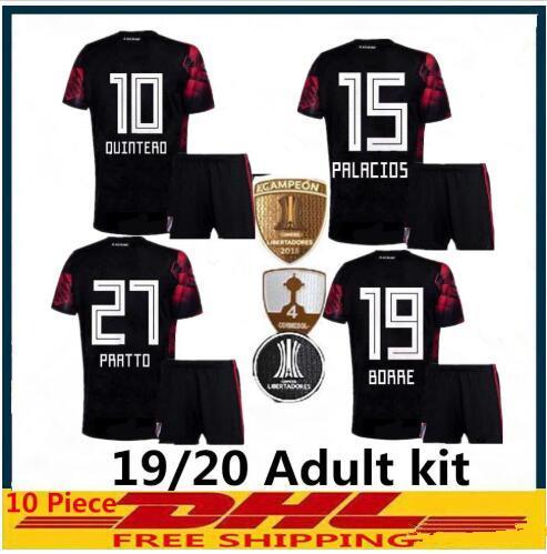 ADULT kit 2019 2020 River Plate soccer jersey third Quintero 10 Pratto Borre Palacios 19 20 argentina River Plate MEN SETS football shirt
