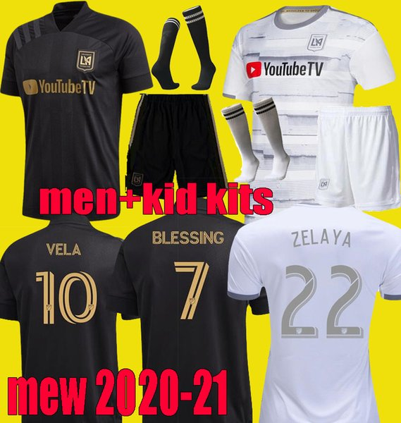best selling 20 21 adult Men kids LAFC VELA Soccer Jerseys 2020 2021 FC LOS ANGELES ZELAYA ROSSI ZIMMERMAN boys kits Football Shirts Full set