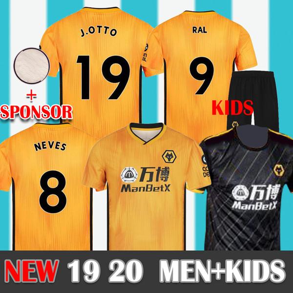 ERKEKLER + ÇOCUKLAR 19 20 Wolverhampton Wanderers futbol forması BOLY Raul Neves I. Cavaleiro Doherty J.Moutinho 2019 2020 Wolverhampton Futbol forması
