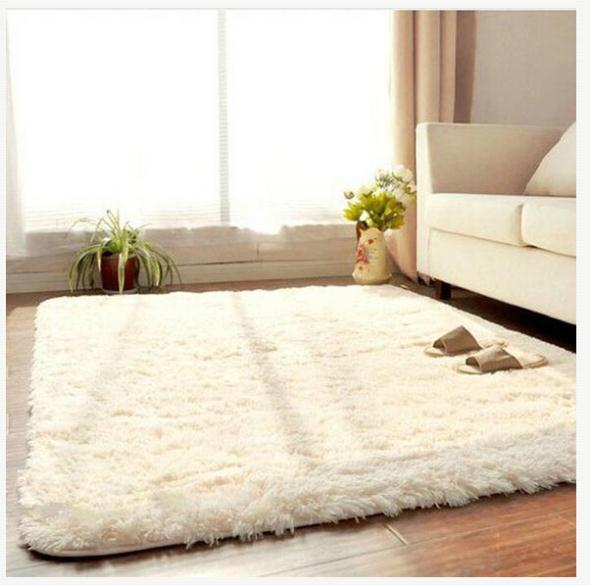 All'ingrosso-New Fashion Living Dining Car Flokati Shaggy Tappeto antiscivolo Tappeto Seatmat / Marca Morbido tappeto per camera da letto 50 * 80cm