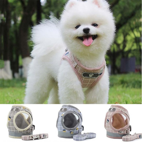 best selling Reflective Stripe dog harness Leashes Set Safe Walk the Dog Harnesses collars Dogs Clothes pet dog accessories 360050