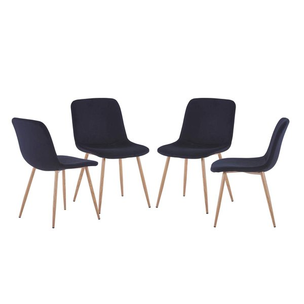 Groovy 2019 Jarl Home Dining Room Sets Of 4 Chairs Fabric Kitchen Chair Covers With Sponge Lining Modern Dining Side Chair With Solid Metal Tube Legs From Gmtry Best Dining Table And Chair Ideas Images Gmtryco