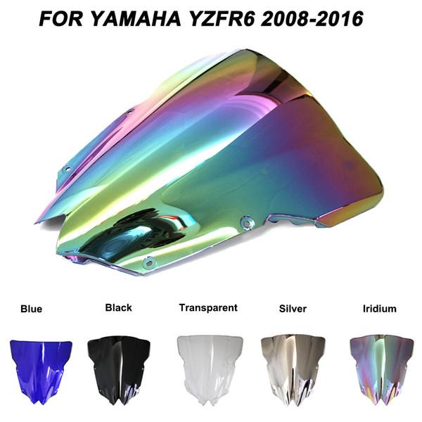 Motorcycle Motorbike Windshield Double Bubble Windscreen Wind Deflectors For Yamaha YZFR6 YZF R6 yzf r6 2008-2016 2008 2009 2016