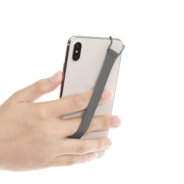 Tfy нескользящий кремний ручной ремешок держатель для Samsung Galaxy Note 9 и iPhone Xs Max / X / XR / 7-серый