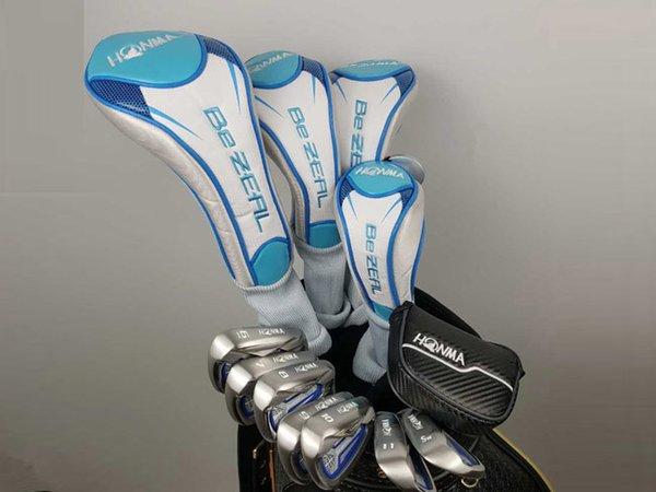 Honma BeZEAL 525 Golf Full Set Women Golf Clubs High Quality Driver + Fairway Woods + U19 + Irons Putter Graphite Shaft With Head Cover
